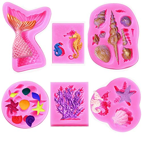 Starfish /& Seashells Silicone Mold only 2 available Hurry before they are gone!