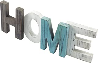 TENINYU Rustic Wood Home Decorative Sign, Standing Wooden Cutout Letters for Home, House, Living Room and Wall Decor by Veronica