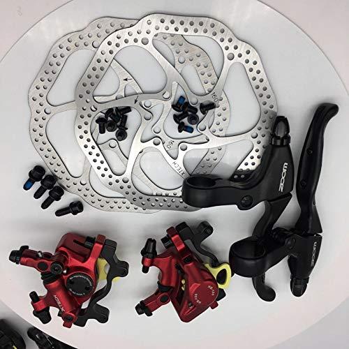 HGYIN-Disc brake Zoom HB-100 MTB Freno de Bicicleta HB100 Frenos de Bicicleta Pinza W Rotores Piezas de Bicicleta Pistón hidráulico Palanca de Freno en V bidireccional W (Color : Ket1 no Bell):