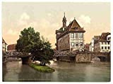 Photo Lower bridge and rathhaus Bamberg Bavaria A4 10x8