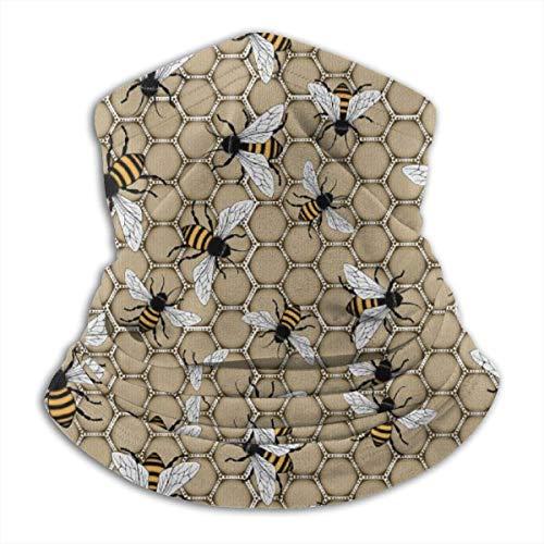 Fleece Nackenwärmer - Sommer Honeybee Neck Gaiter Tube, Bandana, Maske, Stirnband & Beanie