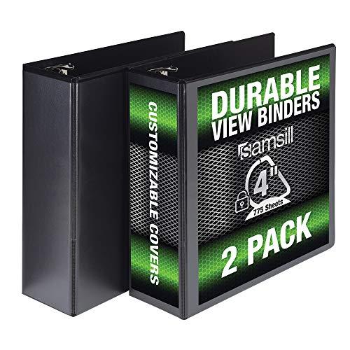 3 Ring View Binders 8 pack 1//2 inch 125 Sheet Presentation Locking Round Rings