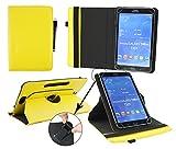 Emartbuy® Blaupunkt Polaris QC Tablet 7.85 Zoll Universal ( 7 - 8 Zoll ) Gelb PrämiePULeder360GradrotierendeStandFolioGeldbörseTascheHülle + Schwarz Eingabestift