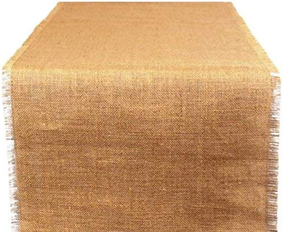 AAYU Brand Premium Burlap Table Runner 16 Inch X 74 Inch Two Real Selvedge And Two Raw Edges Eco Friendly Natural Jute Product