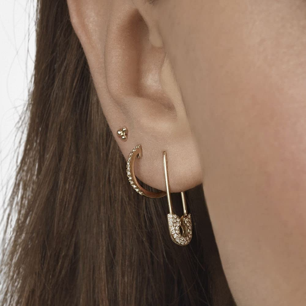 KASMOM 1pc Gothic Punk Handcuff Chain Earrings Stud Earrings Link Chain Round Hoop Earrings for Women/Girl Wedding Gifts KMJU 419