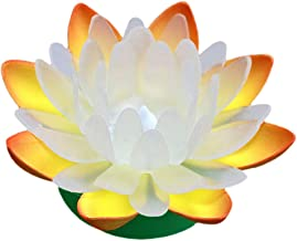 FRCOLOR Led Drijvende Lotus Licht Multicolor Changing Light Battery Operated Lelie Bloem Licht Nacht Lamp Zwembad Tuin Aqu...