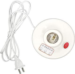 Household Multifunction 3 Timer Desktop Lamp Base 6.5 FT Cord E26 E27 Screw Base for UV,CFL,Germicidal Lamp,LED,table lamp