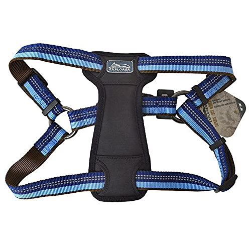 Coastal - K-9 Explorer - Reflective Adjustable Padded Dog Harness, Sapphire, 1' x 20'-30'