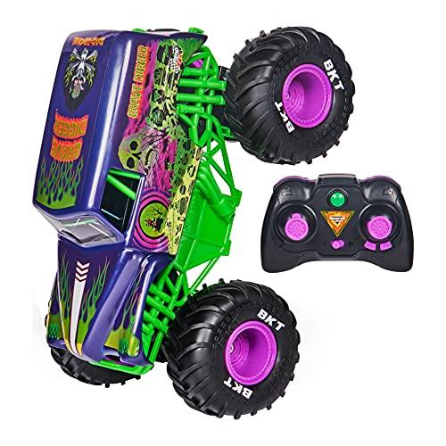 Monster Jam 6060367 MJC RDC GML, Offizielle Grave Digger Freestyle Force, Ferngesteuertes Auto, Monstertruck-Spielzeug für Jungen, Kinder und Erwachsene, Maßstab 1:15