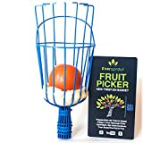 EVERSPROUT Twist-On Fruit Picker Basket   Twists onto Standard US Threaded Pole (3/4-inch ACME)   Fruit Harvester Attachment (Head Only, Pole Not Included)