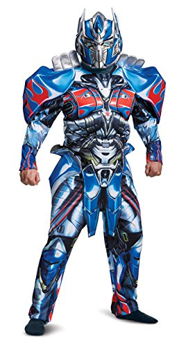 Disguise T5 Optimus Prime Deluxe Adult Costume, X-Large (42-46) Blue