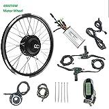 GJZhuan Bicicleta eléctrica Kit de conversión 250W48V sin escobillas para la Rueda Delantera del Motor E-Bici Kit con KT LCD6,28inch LCD Sets