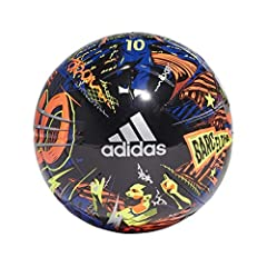 A durable ball that tells the story of a superstar. Butyl bladder for best air retention Training football with Messi logo