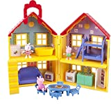Peppa Pig's House Playset, 17 Pieces - Includes Foldable House Case, Character Figures & Room Accessories - Toy Gift for Kids - Ages 2+