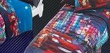 Caleffi Quilt Tagesdecke Cars City Digitaldruck Single cm. 170x 265 Ausgeschlossen Bettlaken und Zubehör