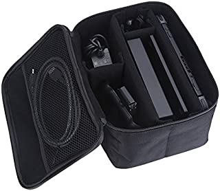 Handle Bag for Nintendo Switch Case - Portable Large Storage Travel Protective Bag Carrying Game Case With Removable Divid...