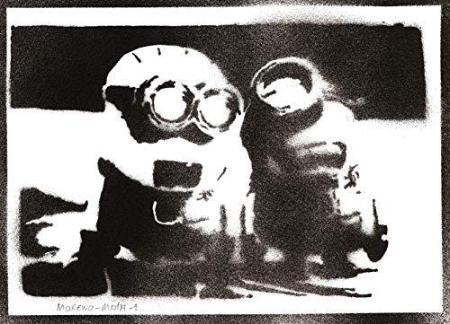 Minions Poster Ich – Einfach Unverbesserlich Plakat Handmade Graffiti Street Art - Artwork