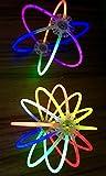 molinoRC   50 Knicklichter   50x Leuchtstäbe   Armreifen   Glowstick   Partylichter   Neon rot gelb grün pink orange blau   Premium Lichter, leuchten ewig   📦   🇩🇪   ✅   😊  🥇   Expressversand - 3