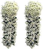 2 Pezzi Fiori Artificiali Pendenti LMYTech Pianta Glicine Finta/Fiori Glicine/Glicine Artificiale Bianco/Piante Finte da Appendere/Piante Rampicanti Glicine/700 mm/Wedding Decor-Bianco