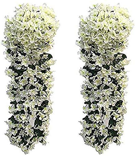 Flores Artificiales Exterior Blancas flores artificiales  Marca LMYTech