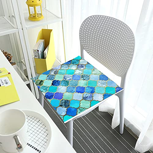 Comfortable Chair Cushions Seat Pads For Dining Chairs Pad Cobalt Blue Aqua Gold Decorative Square Removable Cover Indoor Outdoor Living Room Patio Garden Office Coffee Shop