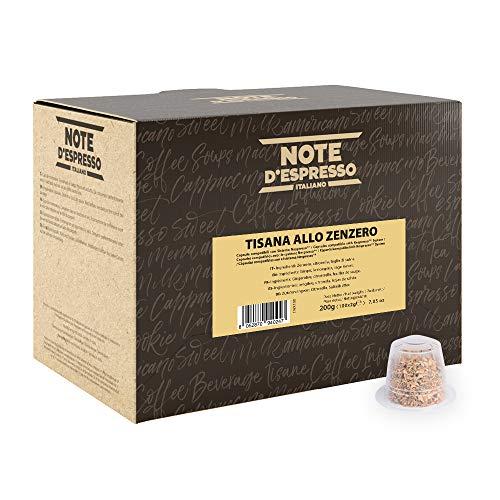 Note D'Espresso - Cápsulas de tisana de jengibre, 2g (caja de 100 unidades) Exclusivamente Compatible con cafeteras Nespresso*