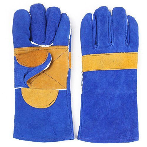 MASUNN Heavy Duty lashandschoenen lederen rundleer beschermen lasser handen 2 maten