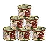 Dehner Fine Nature Katzenfutter Senior, Lebensmittelqualität, Truthahn und Ente, 6 x 200 g (1.2 kg)