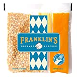 Franklin's Gourmet Popcorn All-In-One Pre-Measured Packs - 2oz. Pack of 10 - Butter Flavored Coconut Oil + Butter Salt Popcorn Seasoning + Organic Corn - Authentic Movie Theater Taste – Made in USA
