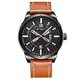 EASTPOLE Herren Armbanduhr Quarzuhr Datumsanzeige Fashion Schwarz Design Uhr CUR132