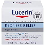 Eucerin Redness Relief, Night Creme 1.70 oz (Pack of 3)