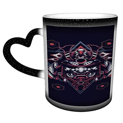Helm Samurai Krieger Japan Japanisch Trad Q Kaffee Tee Wasser Tasse Keramikbecher...