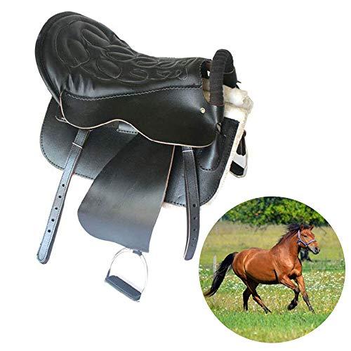 High-End Saddle, Riding Zadelhoes Travel Zadel Pure Leren Zadel Strap Leggings Leer Accessoires Schokdempers, Ergonomisch Ontworpen Saddle