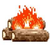 8-bit Fireplace