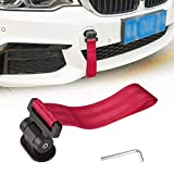 TOMALL Universal Car Decorative Trailer Tow Strap Red Car Tow Belt for Car Bumper (ONLY Decoration)