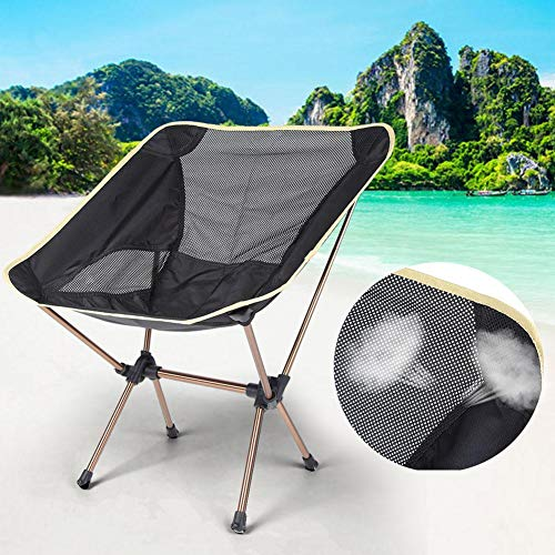 Ongoion Taburete Silla de Camping Ligera Taburete de Exterior Compacto para Camping de Picnic