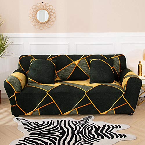 Living Room Sofa Covers Polyester Fabric Stretch Slipcovers,Stretch für Wohnzimmer Stretch Schonbezug Sectional Corner Armchair Cover-17_90-140cm