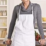 InnoGear 2 Stücke verstellbare Schürze mit 2 Taschen, Kochenschürze Küchenschürze für Küche, Restaurant, café (Weiß Dicke Polyester) - 3