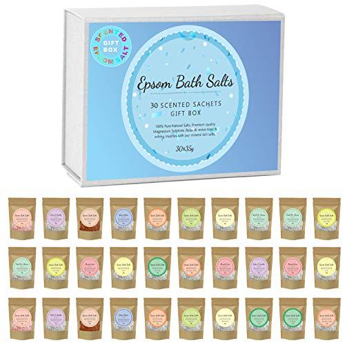 Scented Pure Epsom Salts   Magnesium Sulphate Bath Spa Salt   30x35G...