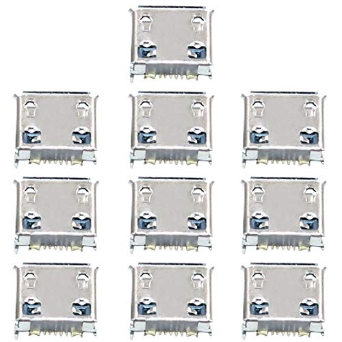 ZHENGYAQI-PHONE CASE Accesorios 10 PCS Conector de Puerto de Carga Compatible con Galaxy Nexus I9250 I9103 S5360 S5330 S3850 W999 I559