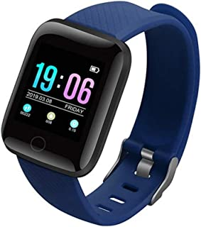 ZHANG Fitness Pulsera de Actividad Inteligente Impermeable IP68 con Pantalla Color, Reloj Inteligente Pulsómetro, Cronómetros, Monitor de Sueño Podómetro GPS Reloj Deportivo Mujeres Hombres Niños