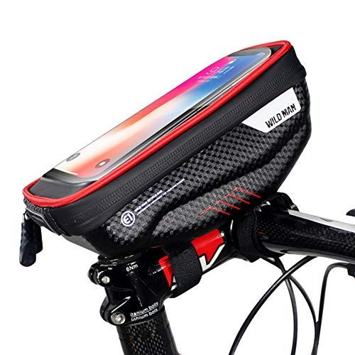 Zingso - Funda Impermeable para Manillar de Bicicleta, Compatible con iPhone XS MAX XR X 8 7 6 6S Plus Samsung S9 LG Sony Smartphone de hasta 6,5 Pulgadas, Rojo
