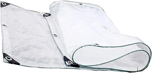Qing MEI Couche Transparente Double épaississement Soleil Chambre Bache Fenêtre Balcon Imperméable Coupe-Vent Tissu Transparent A+ (Taille   3.9x5.9m)