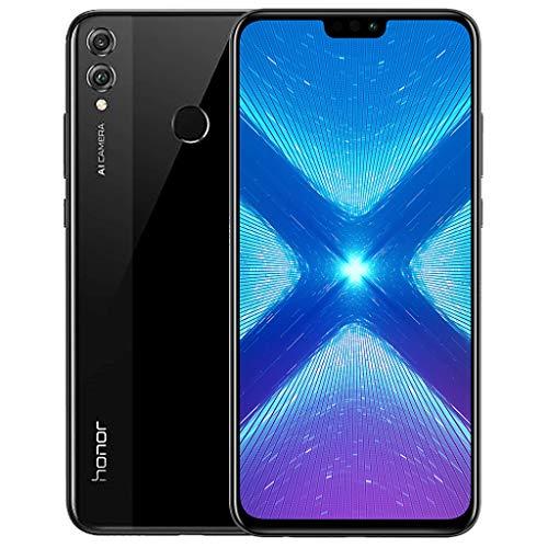Honor 8X Smartphone (16,5 cm (6,5 Zoll) Bildschirm, 64 GB interner Speicher, Android 8.1) Schwarz, 51092XWS