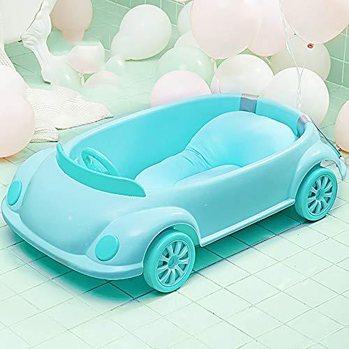 Badkuip voor Baby-De Badkuip van het uiterlijk van de auto voldoet aan de behoeften van de baby, de baby huilt niet, maakt geen problemen, valt verliefd op het zwemmen en de moeder maakt zich zorgeloos Bathtub+bathrack+bathnet Blauw