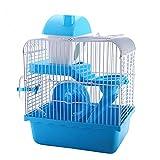 OMAORST Hamsterkäfig Nagerkäfig Mäusekäfig mit Laufrad, Futterschüssel, Wasserflasche,...