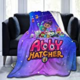 GIPHOJO Plush Flannel Blankets Ab-by and Hat-Cher Soft Throw Blanket Lightweight Throws for Bed Sofa Couch Chair Living Room Home Office Car Beach Picnic Travel Gifts 50'x40'