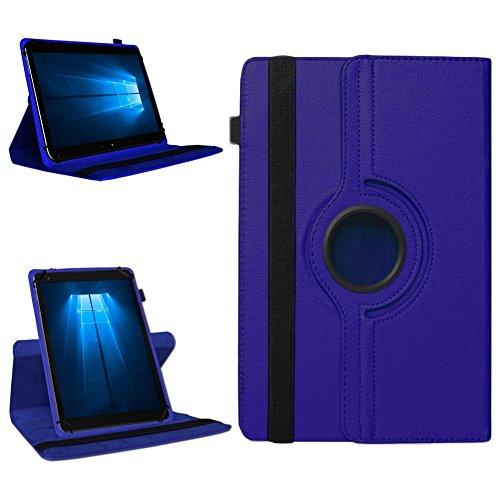 NAmobile Tablet 360° Drehbar Hülle für Odys Wintab Ares 9 Tasche Schutzhülle Hülle Cover, Farben:Blau