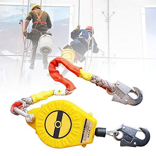 HNWTKJ Limitador de Caída Personal, Dispositivo Anticaídas Retráctil, Cordón para Herramientas Portátil para Trabajando en Las Alturas Escalada (Size : 7m)