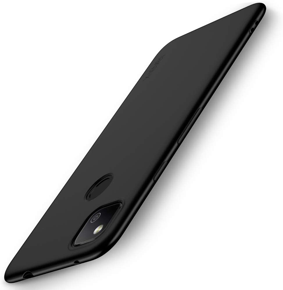 X-level Google Pixel 4a Case Slim Fit Mobile Phone Case [Guardian Series] Soft TPU Matte Finish Ultra Thin Light Protective Cell Phone Back Cover for Google Pixel 4a-Black
